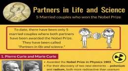 公私にわたるパートナー:ノーベル賞を受賞した5組の夫婦