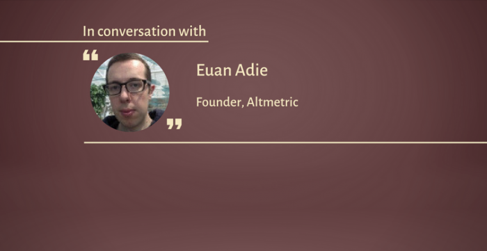 「Altmetricは著者としての経験から生まれたものです」