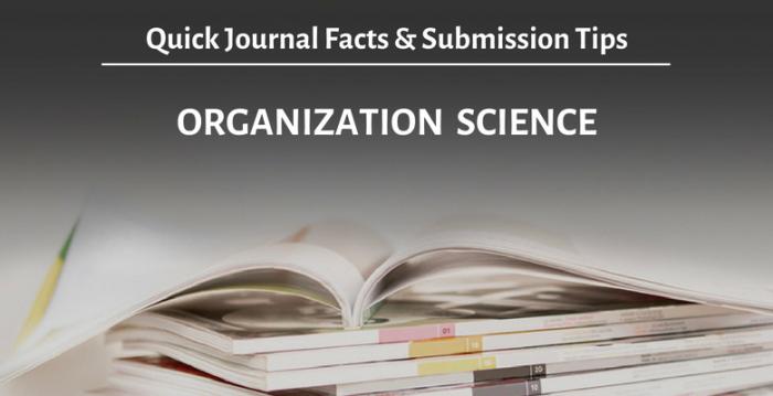 ジャーナルを知ろう!『Organization Science』