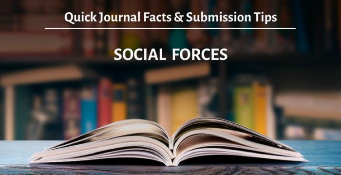 """学術誌 """"Social Forces""""の概要と投稿時のアドバイス"""