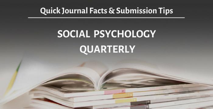 """学術誌""""Social Psychology Quarterly"""" (SPQ)の 概要と投稿時のアドバイス"""
